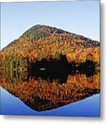 Autumn Colours Reflected In Water Metal Print