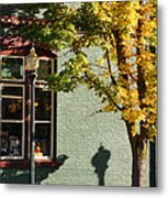 Autumn Detail In Old Town Grants Pass Metal Print