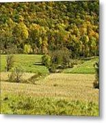 Autumn Farm Vista Metal Print