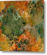 Autumn Forest Tree Tops Abstract Metal Print