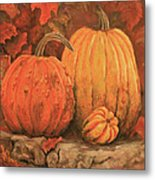 Autumn Harvest Metal Print by Peggy McMahan