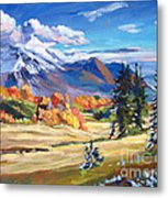 Autumn In The Foothills Metal Print