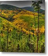 Autumn In The Rockies Hdr Metal Print