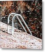 Autumn Ladder Metal Print by David Taylor