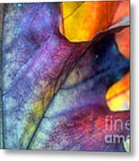 Autumn Leaf Abstract 2 Metal Print