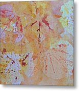 Autumn Leaf Splatter Metal Print