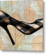 Autumn Leaves Stilettos Metal Print