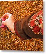 Autumn Leaves Times Two Metal Print