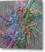 Autumn Likes Lines Metal Print by Michelle Calkins