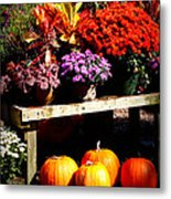 Autumn Market Metal Print