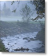Autumn Mist Metal Print
