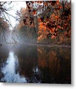 Autumn Morning By Wissahickon Creek Metal Print