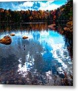 Autumn On Cary Lake Metal Print by David Patterson