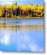 Autumn On Chena Lake Ll Metal Print