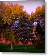 Autumn On The Fairway Metal Print