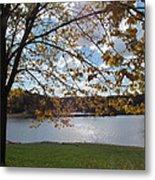 Autumn Overlooking The Dam Metal Print