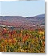 Autumn Panorama Brome Quebec Canada Metal Print