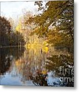 Autumn Pond In Harbor Country Metal Print