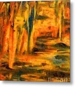 Autumn Reflection In The Water Metal Print