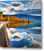 Autumn Reflections In October Metal Print by Tara Turner