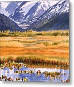 Autumn Reflections Metal Print by Sharon Freeman