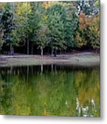 Autumn Reflections Upon Dark Waters Metal Print