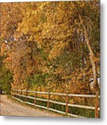 Autumn  Road To The Ranch Metal Print