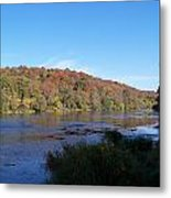 Autumn Scenery Along The Grand River Metal Print