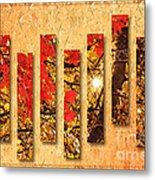 Autumn Sunrise Painterly Abstract Metal Print