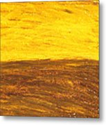 Autumn Sunset Over Harvest Field Metal Print