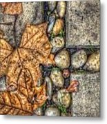 Autumn Texture Metal Print