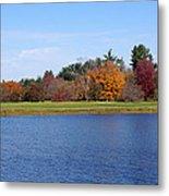 Autumn Trees By The Lake Metal Print