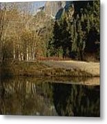 Autumn View Of The Park With Half Dome Metal Print