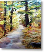 Autumn Walk In The Woods Metal Print