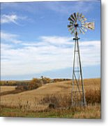Autumn Windmill Metal Print