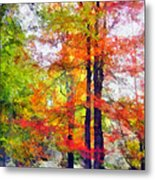 Autumnal Rainbow Metal Print