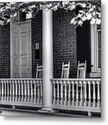 Avenel Porch - Bedford - Virginia Metal Print