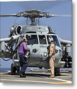 Aviation Boatswain's Mates Run Metal Print