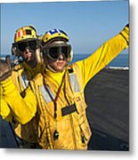 Aviation Boatswain Mates Direct An Metal Print