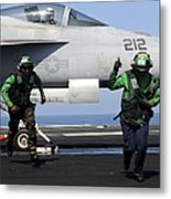 Aviation Boatswain Mates Signal A Clear Metal Print