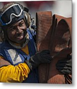 Aviation Boatswains Mate  Carrying Metal Print