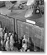 Aviation Cadets Check Flight Boards Metal Print