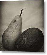 Avocado And Pear Metal Print