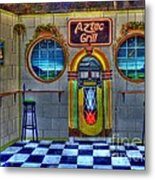 Aztec Grill Route 66 Metal Print