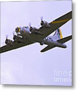 B-17g Liberty Belle Approach 8x10 Special Metal Print by Tim Mulina