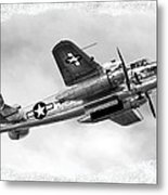 B25 In Flight Metal Print by Greg Fortier