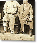 Babe Ruth And John Mcgraw 1923 Metal Print by Padre Art