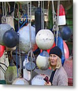 Babe With The Buoys Metal Print