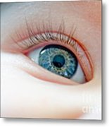 Baby Eye Close-up Of A Blue Eye Metal Print