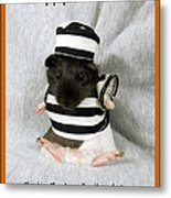 Baby Guinea Pig Trick Or Treat Metal Print